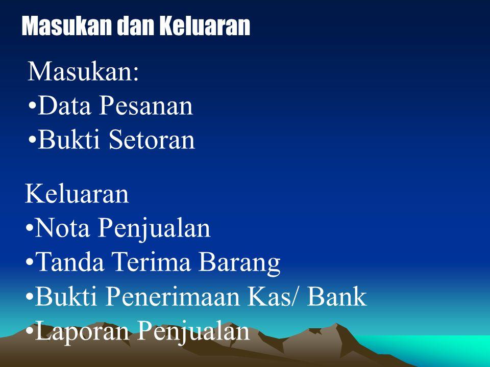 Bukti Penerimaan Kas/ Bank Laporan Penjualan