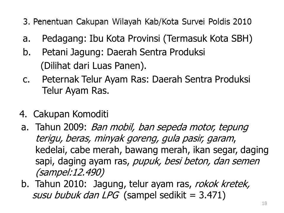 3. Penentuan Cakupan Wilayah Kab/Kota Survei Poldis 2010