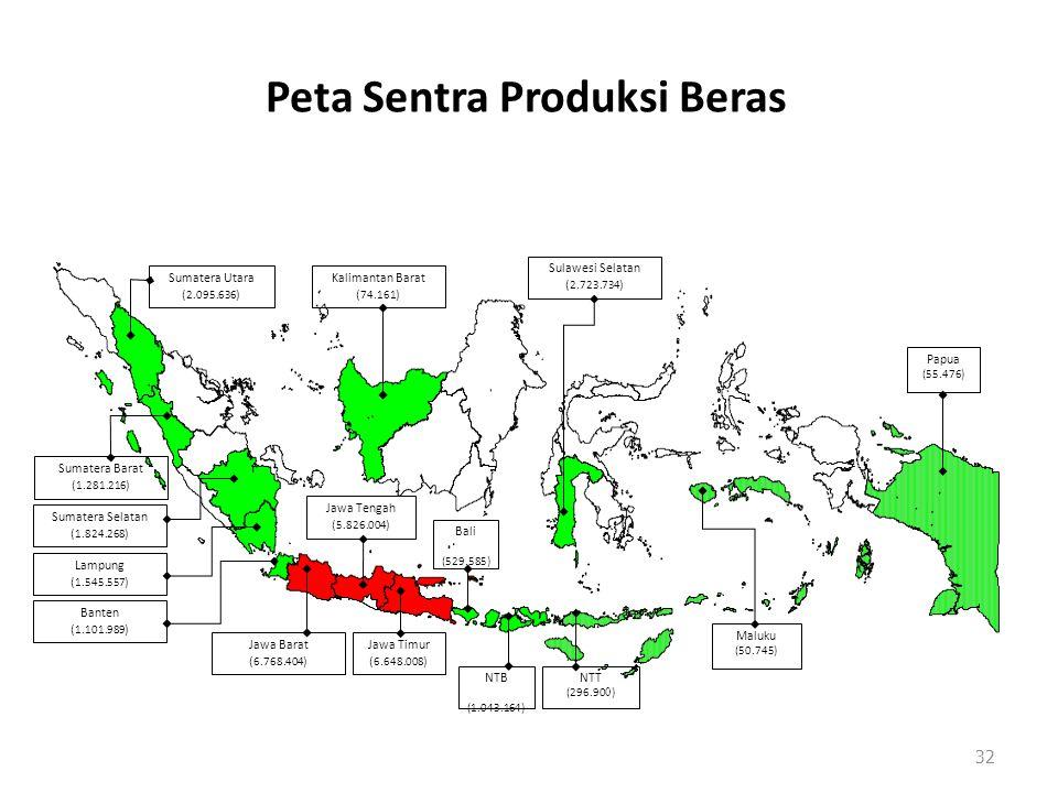 Peta Sentra Produksi Beras