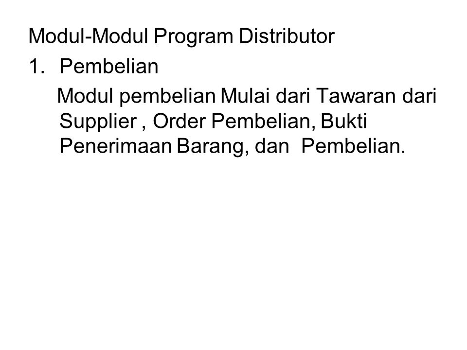 Modul-Modul Program Distributor