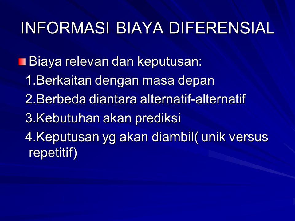 INFORMASI BIAYA DIFERENSIAL
