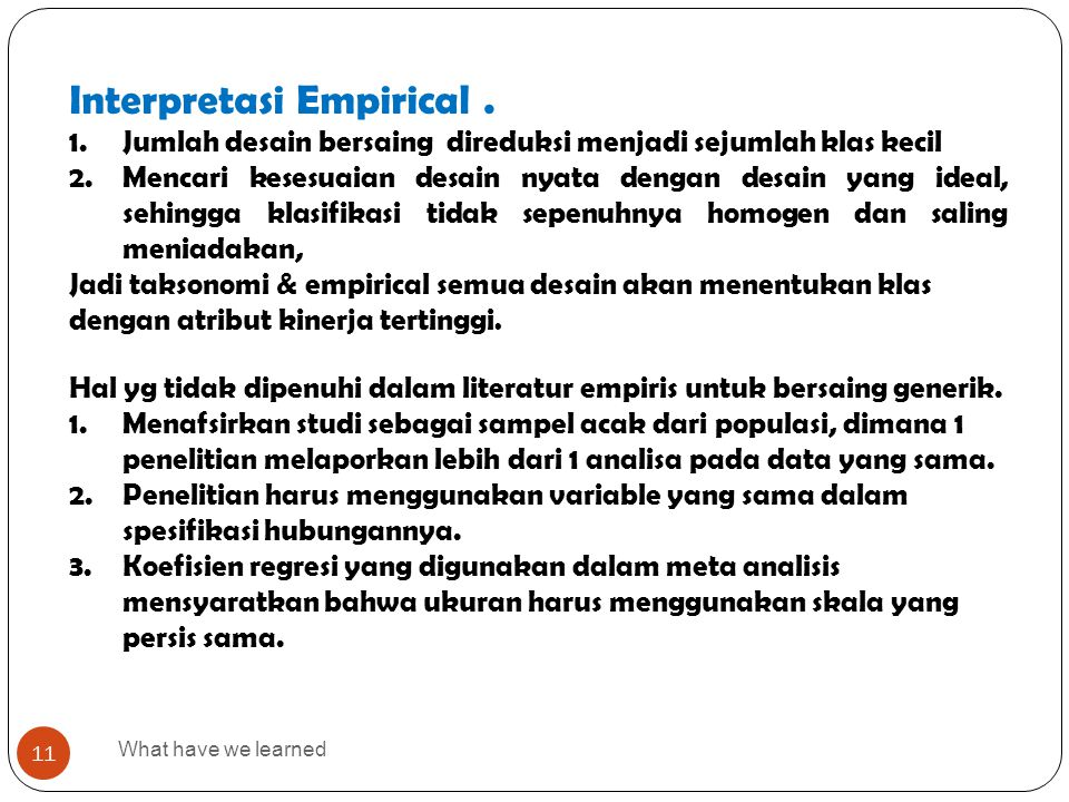 Interpretasi Empirical .