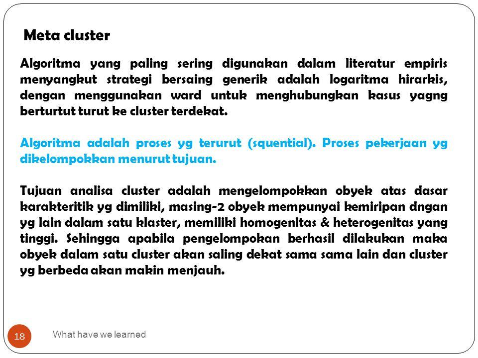 Meta cluster