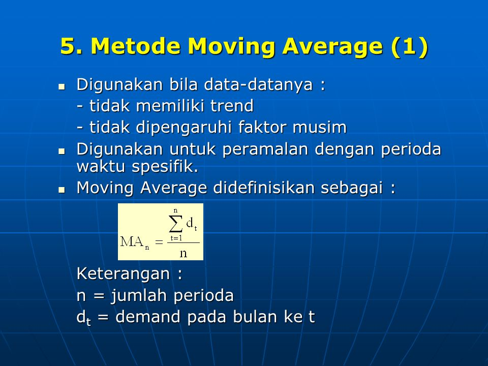 5. Metode Moving Average (1)
