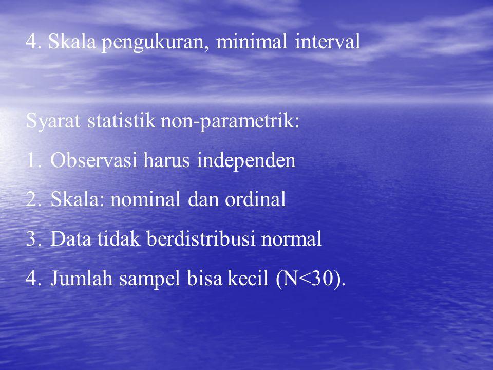 4. Skala pengukuran, minimal interval