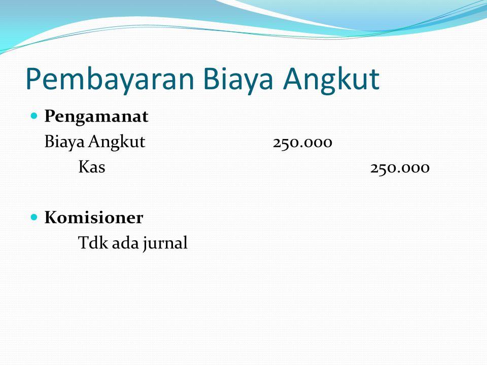 Pembayaran Biaya Angkut