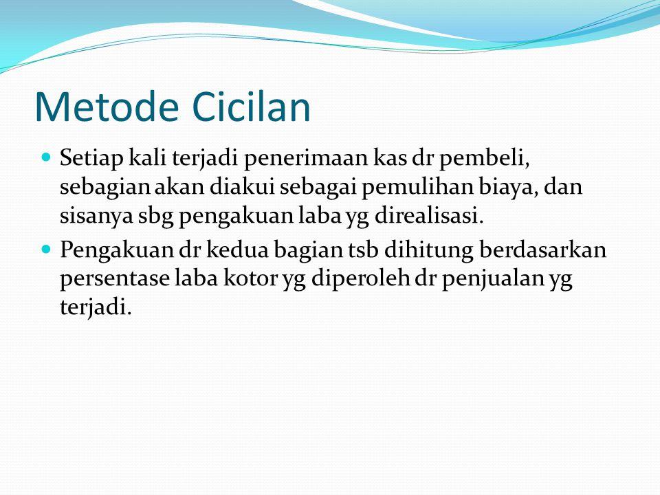 Metode Cicilan