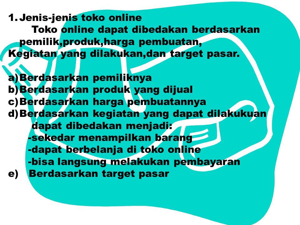 Jenis-jenis toko online