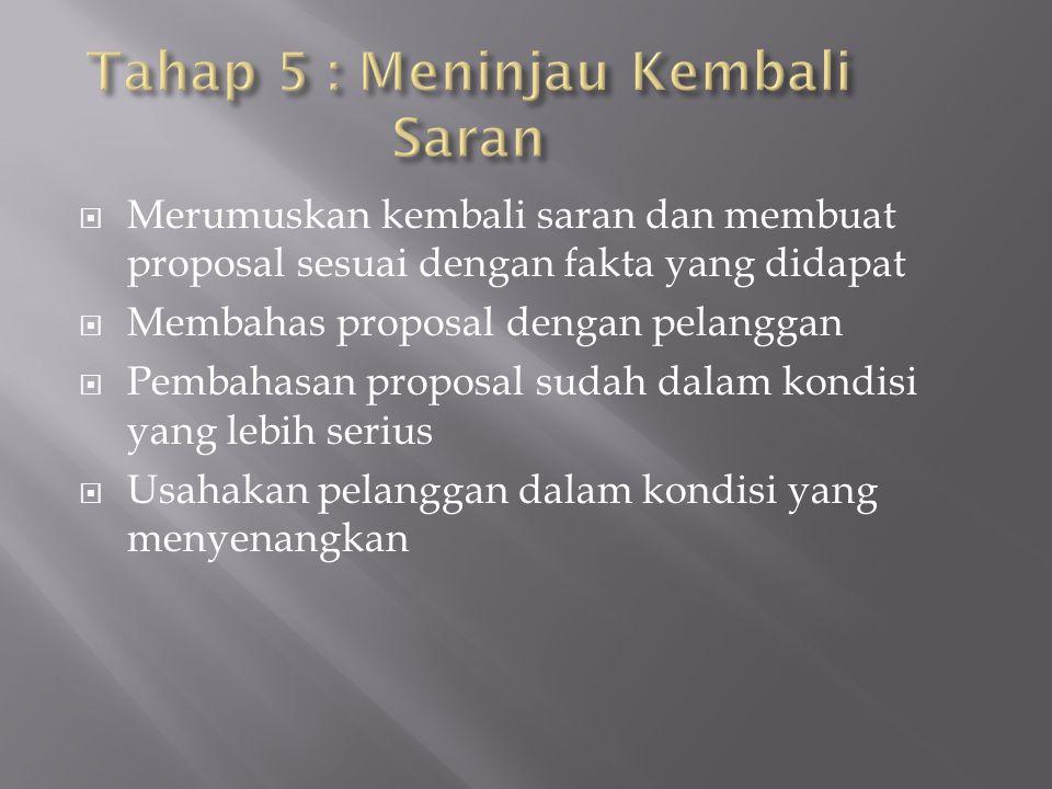 Tahap 5 : Meninjau Kembali Saran