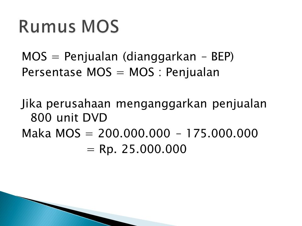 Rumus MOS