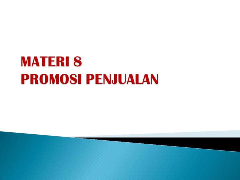 MATERI 8 PROMOSI PENJUALAN
