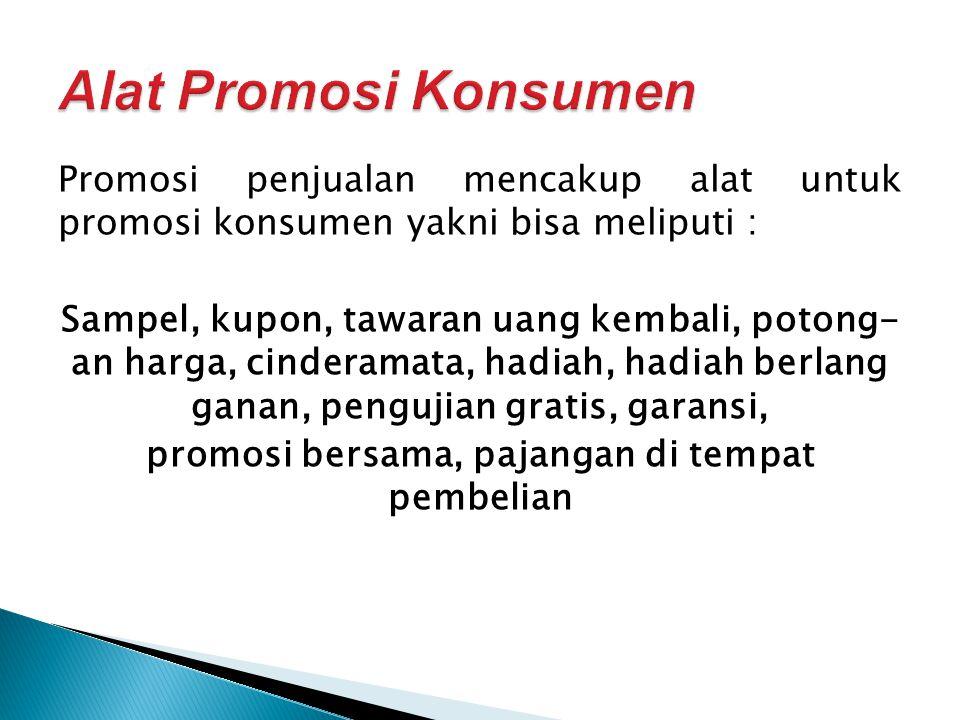 Alat Promosi Konsumen