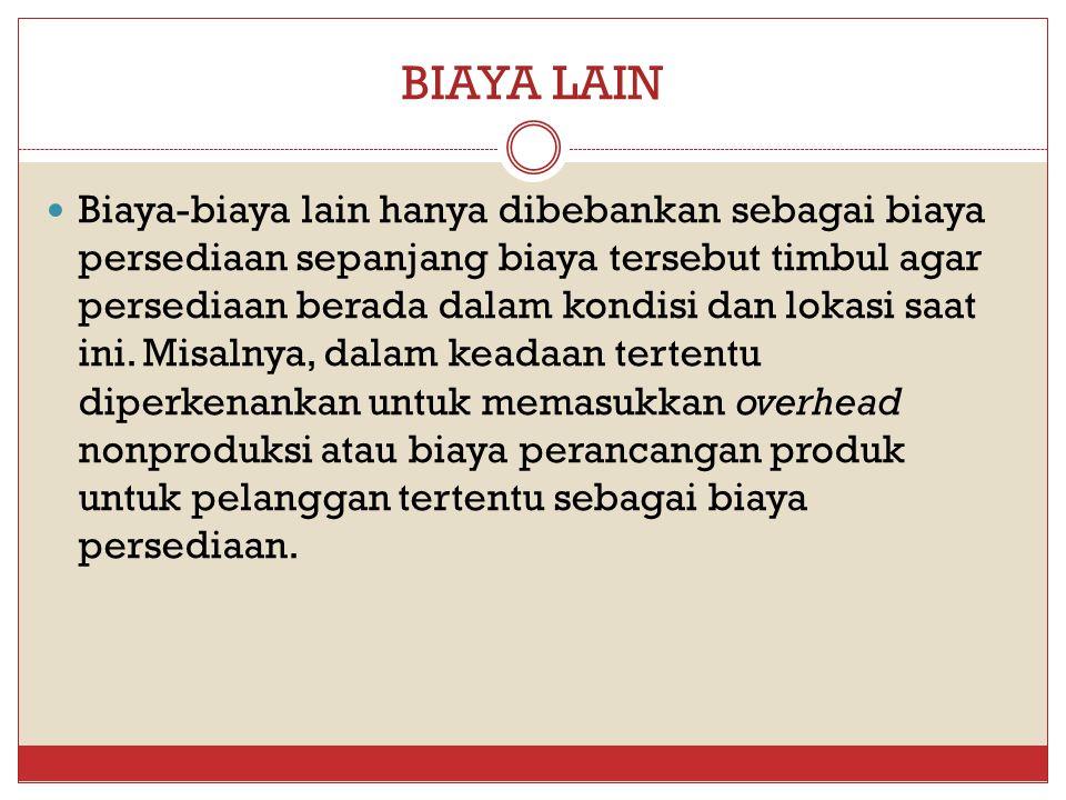 BIAYA LAIN