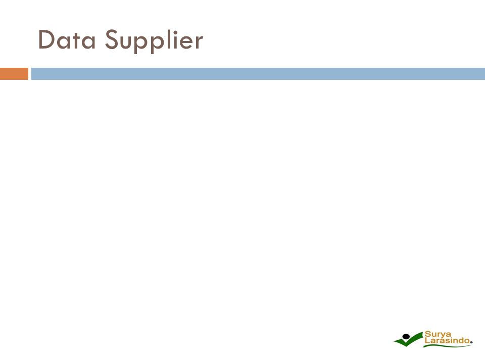 Data Supplier