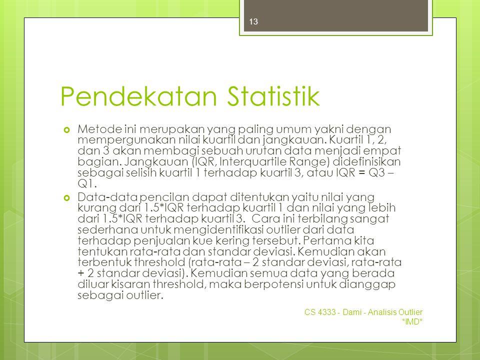 Pendekatan Statistik