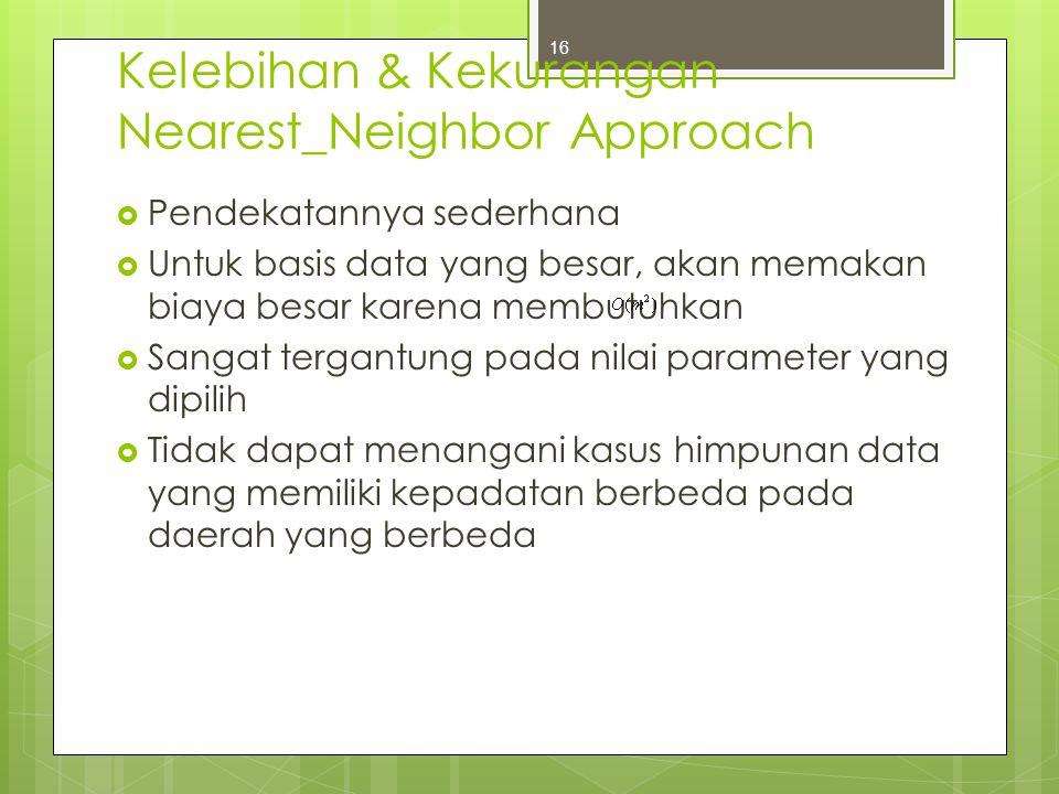 Kelebihan & Kekurangan Nearest_Neighbor Approach