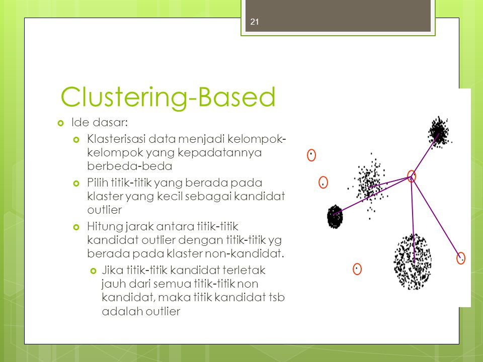 Clustering-Based Ide dasar: