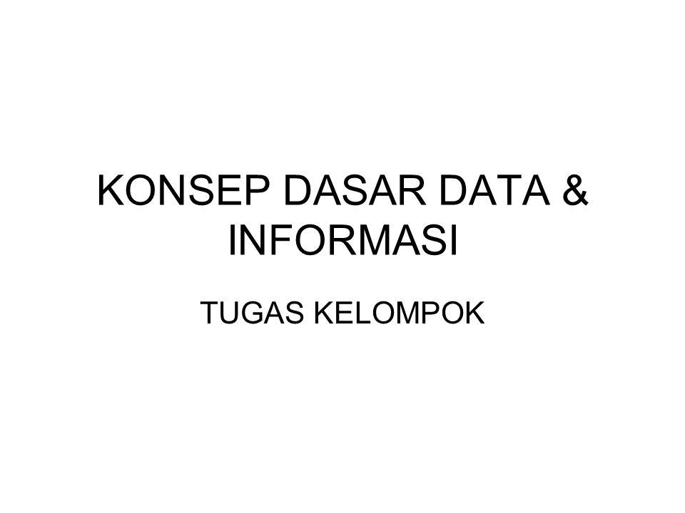 KONSEP DASAR DATA & INFORMASI