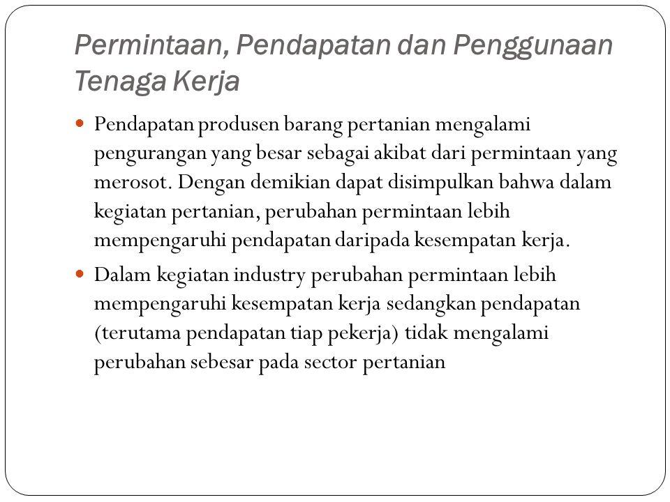 Permintaan, Pendapatan dan Penggunaan Tenaga Kerja