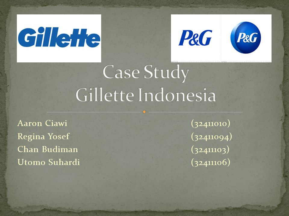 Case Study Gillette Indonesia