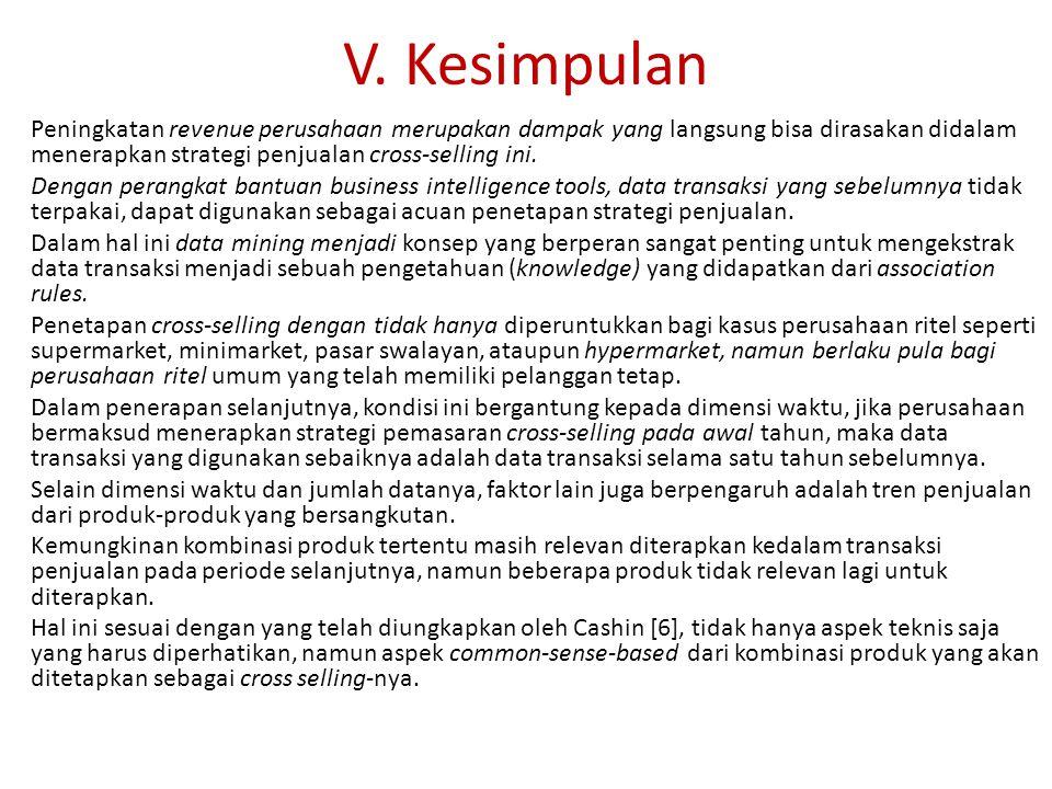 V. Kesimpulan