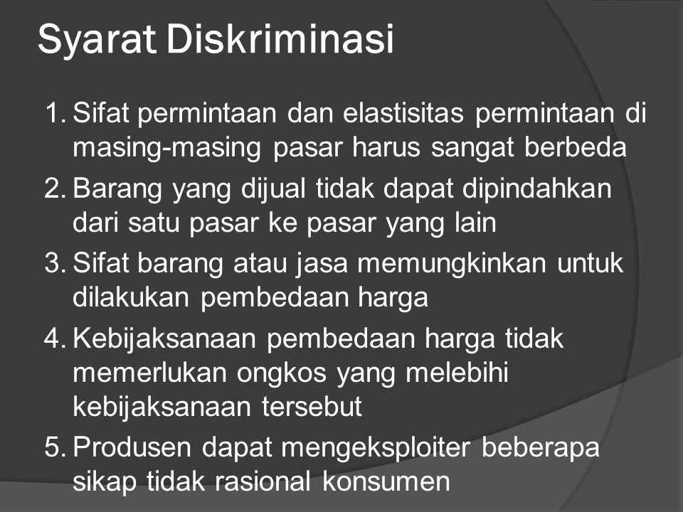 Syarat Diskriminasi
