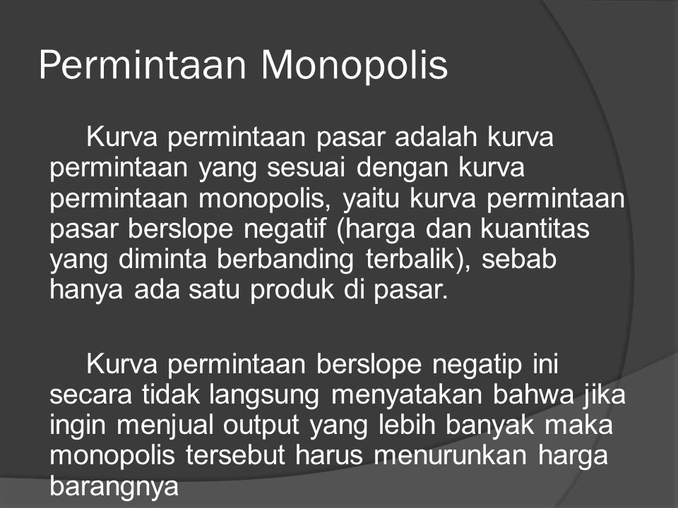 Permintaan Monopolis