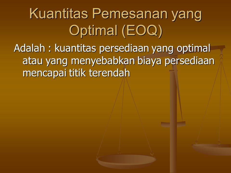 Kuantitas Pemesanan yang Optimal (EOQ)