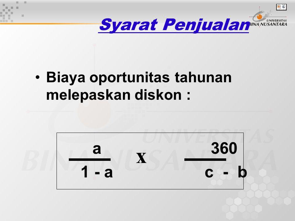 x Syarat Penjualan 1 - a c - b