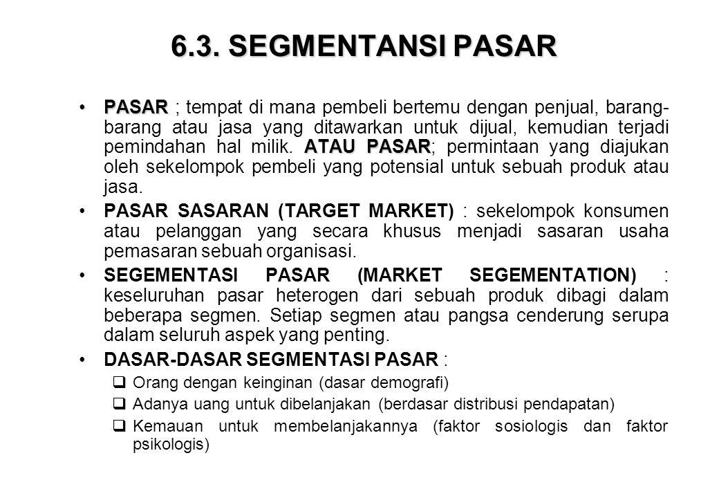 6.3. SEGMENTANSI PASAR