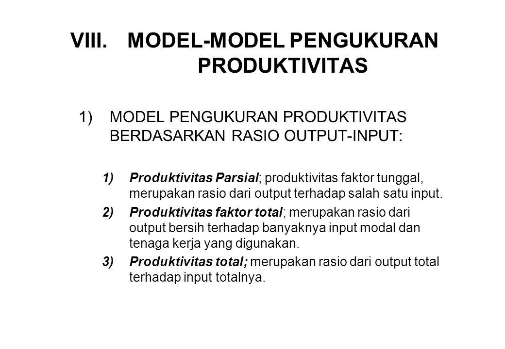 MODEL-MODEL PENGUKURAN PRODUKTIVITAS