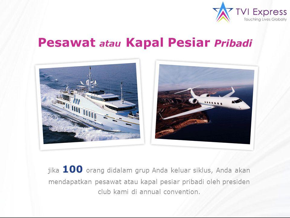 Pesawat atau Kapal Pesiar Pribadi