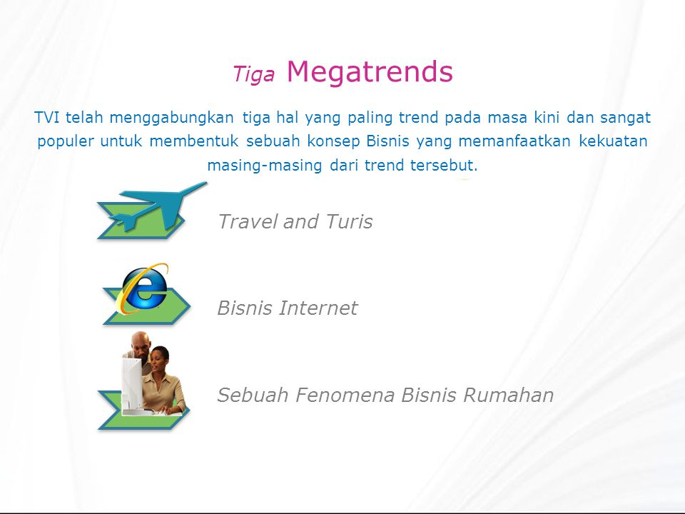 Tiga Megatrends Travel and Turis Bisnis Internet