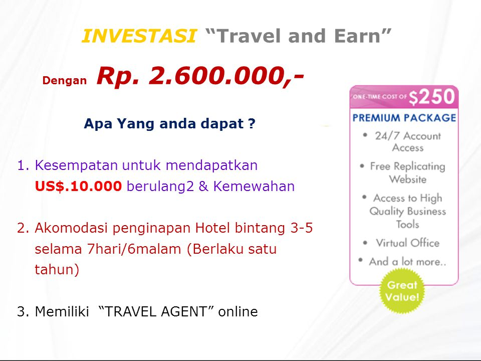 INVESTASI Travel and Earn