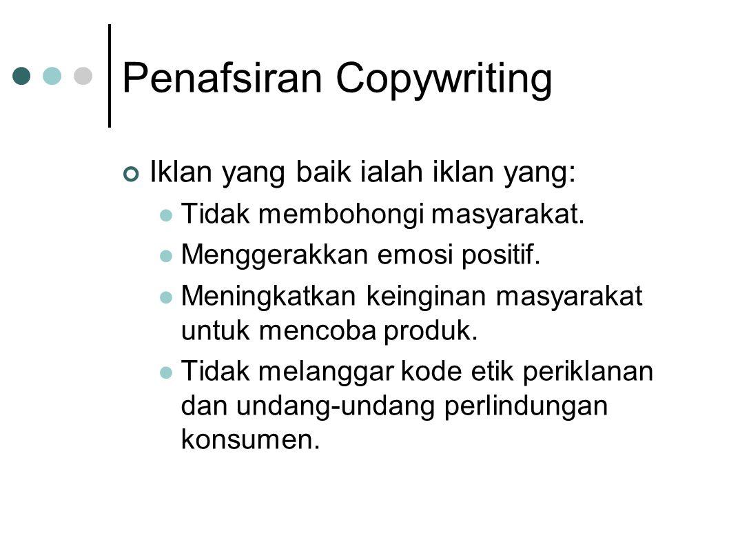Penafsiran Copywriting