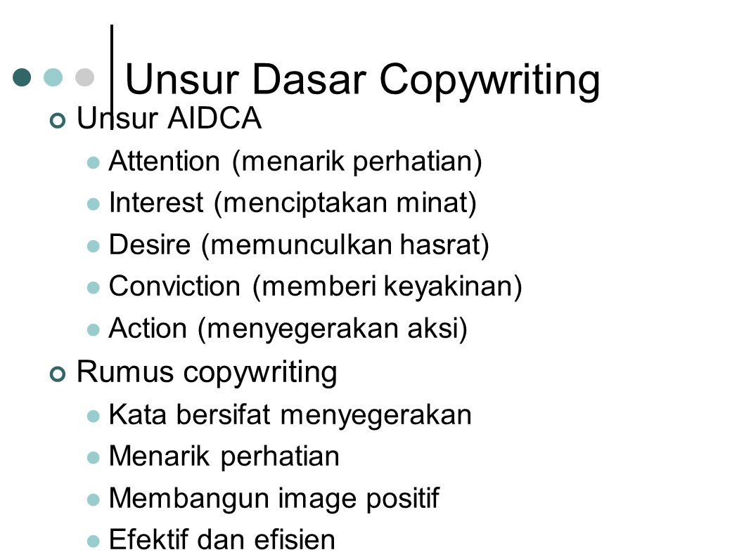 Unsur Dasar Copywriting