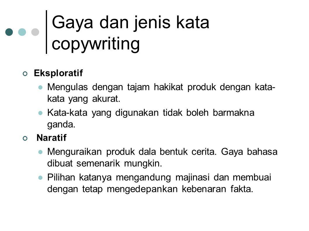 Gaya dan jenis kata copywriting