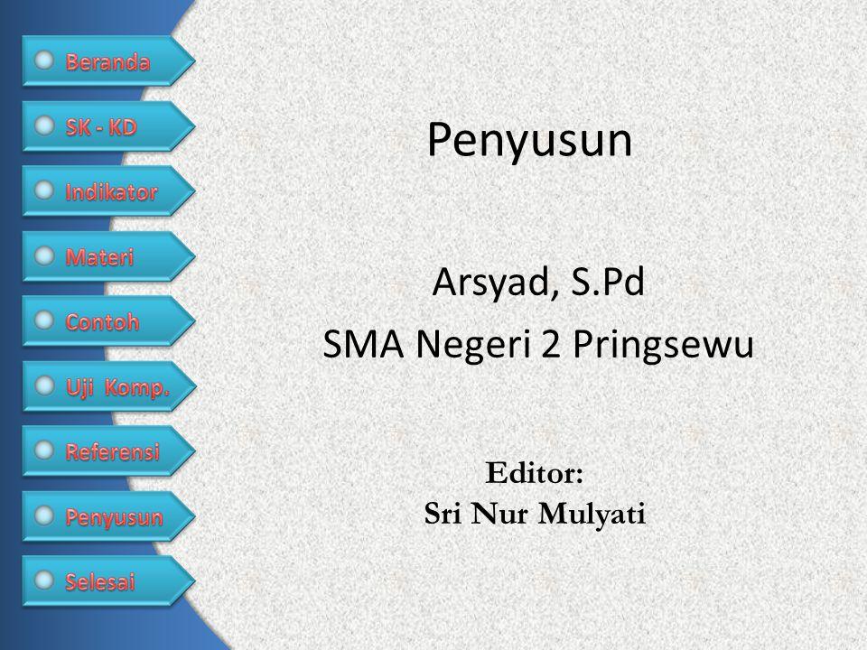 Arsyad, S.Pd SMA Negeri 2 Pringsewu