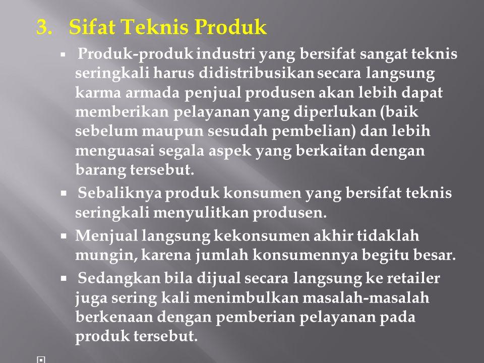 3. Sifat Teknis Produk