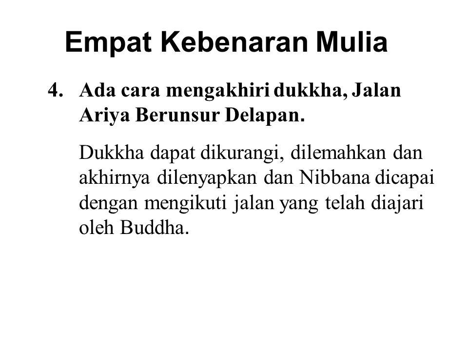 Empat Kebenaran Mulia Ada cara mengakhiri dukkha, Jalan Ariya Berunsur Delapan.