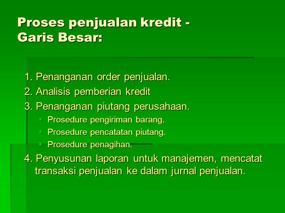 Proses penjualan kredit - Garis Besar: