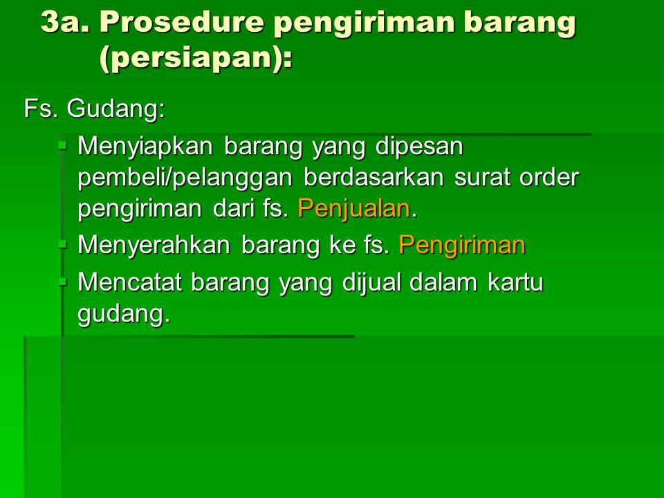 3a. Prosedure pengiriman barang (persiapan):