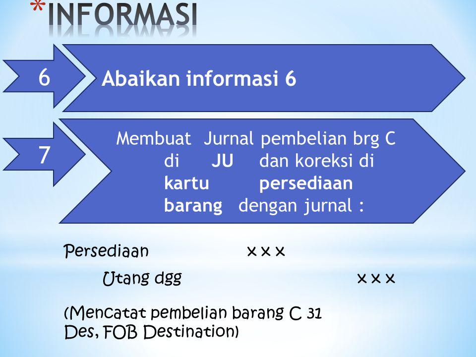 INFORMASI 6 7 Abaikan informasi 6
