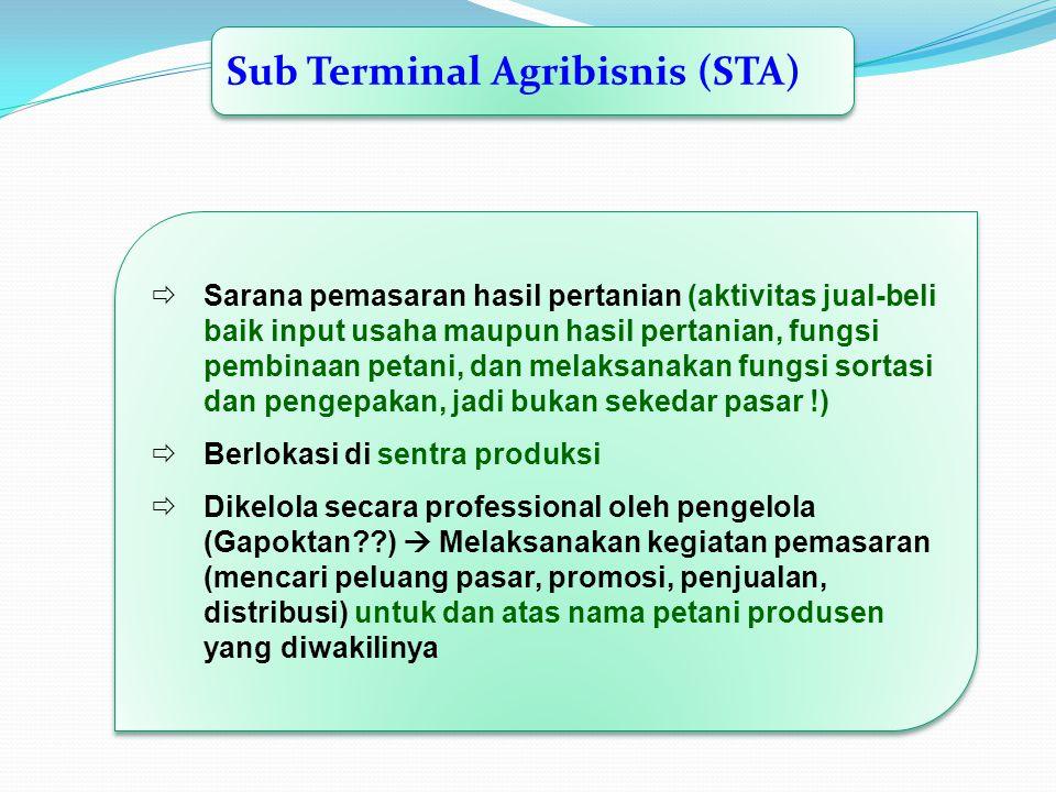Sub Terminal Agribisnis (STA)