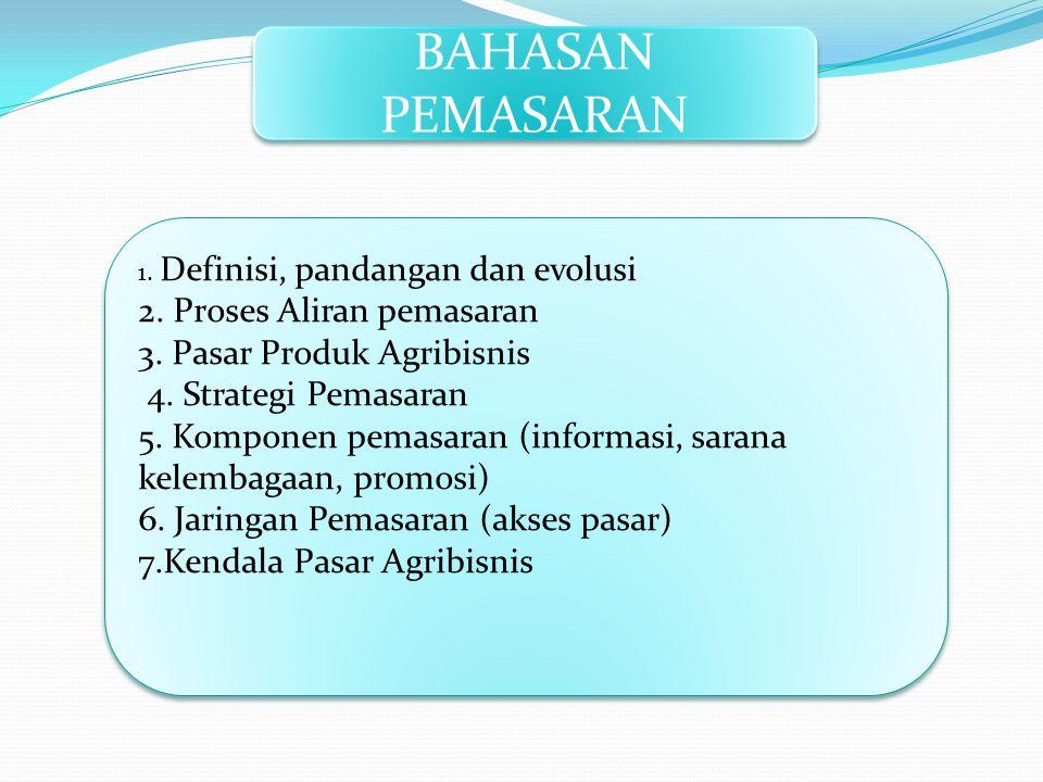 BAHASAN PEMASARAN 2. Proses Aliran pemasaran