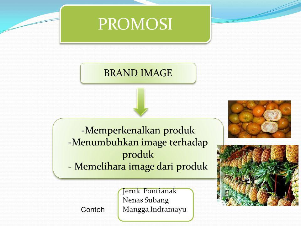 PROMOSI BRAND IMAGE Memperkenalkan produk
