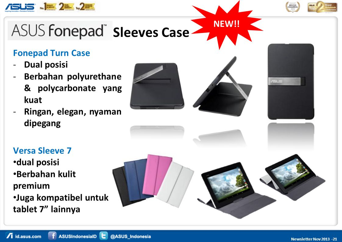 Sleeves Case NEW!! Fonepad Turn Case Dual posisi
