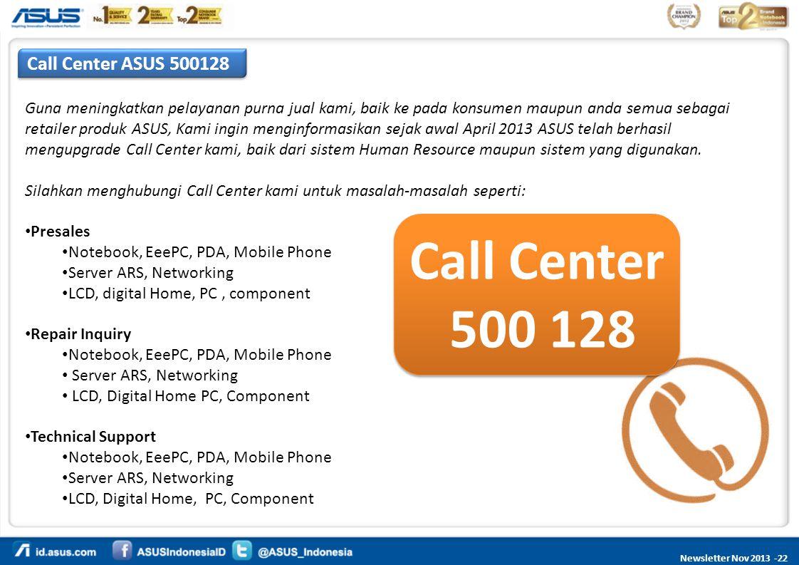 Call Center 500 128 Call Center ASUS 500128