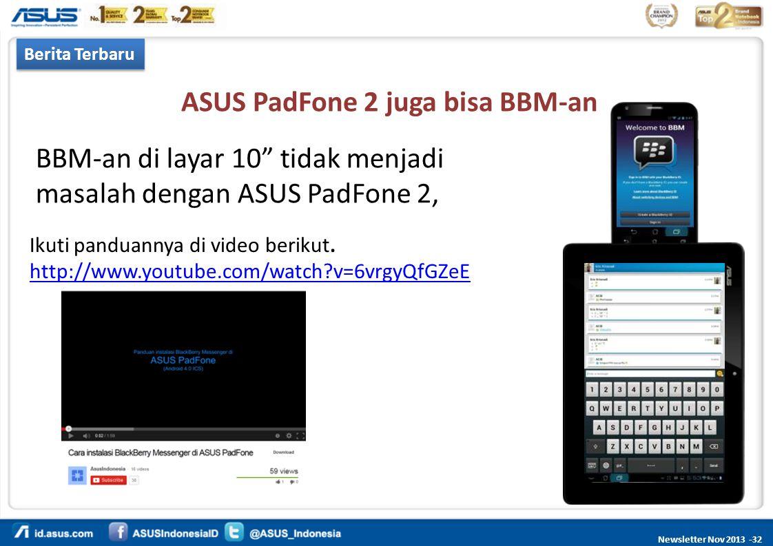 ASUS PadFone 2 juga bisa BBM-an
