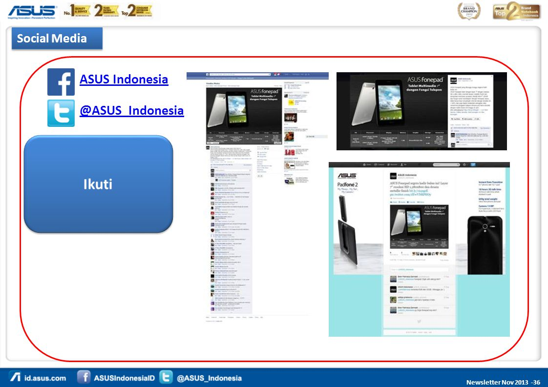 Social Media ASUS Indonesia @ASUS_Indonesia Ikuti